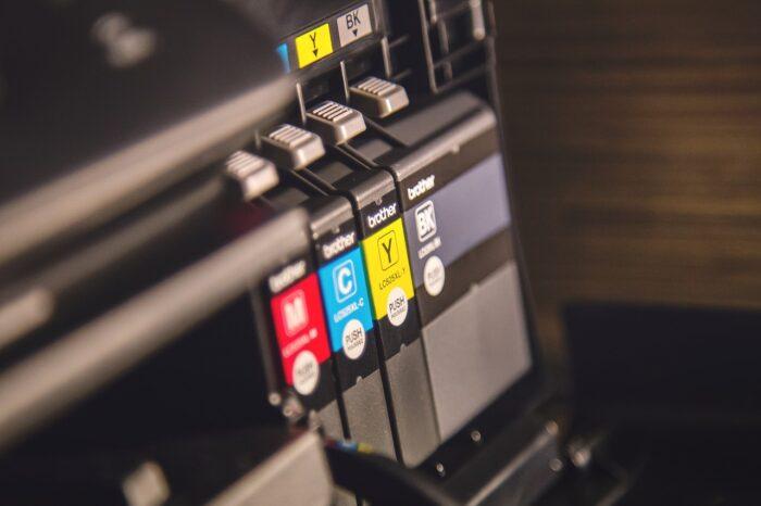 プリンターの印刷インクの写真